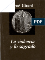 GIRARD, Rene - La Violencia y Lo Sagrado
