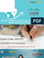 Get Latest Cisco 400-251 Exam Questions