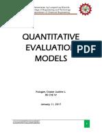 Quantitative Models (2)