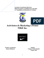 Activitatea de Marketing a Firmei NIKE Inc