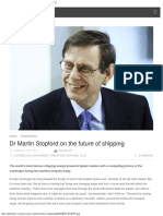 Dr Martin Stopford on the Future of Shipping