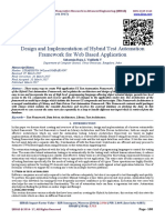Design and Implementation of Hybrid Test Automation Framework for Web Based Application