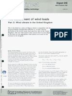 BRE Assessment of Wind Loads Wind Climate in the United Kingdom Part 3