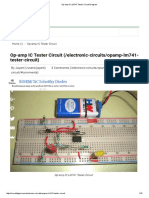 Op-Amp IC LM741 Tester Circuit Diagram