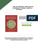 2512452980 the Sworn Book of Honorius Liber Iuratus Honorii by Honorius of Thebes Joseph h