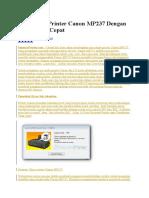 Cara Reset Printer Canon MP237 Dengan Mudah Dan Cepat