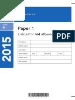 2015 KS2 L6 Mathematics Paper1 PDFA