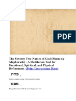The Seventy Two Names of God
