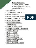 Music Careers