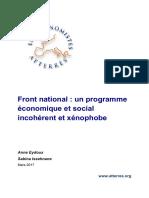 Le programme du Front National analysé par les économistes atterrés