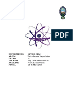 Ley de Ohm Informe FIS 102