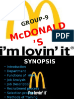 Group's -9 Mcdonalds Ppt