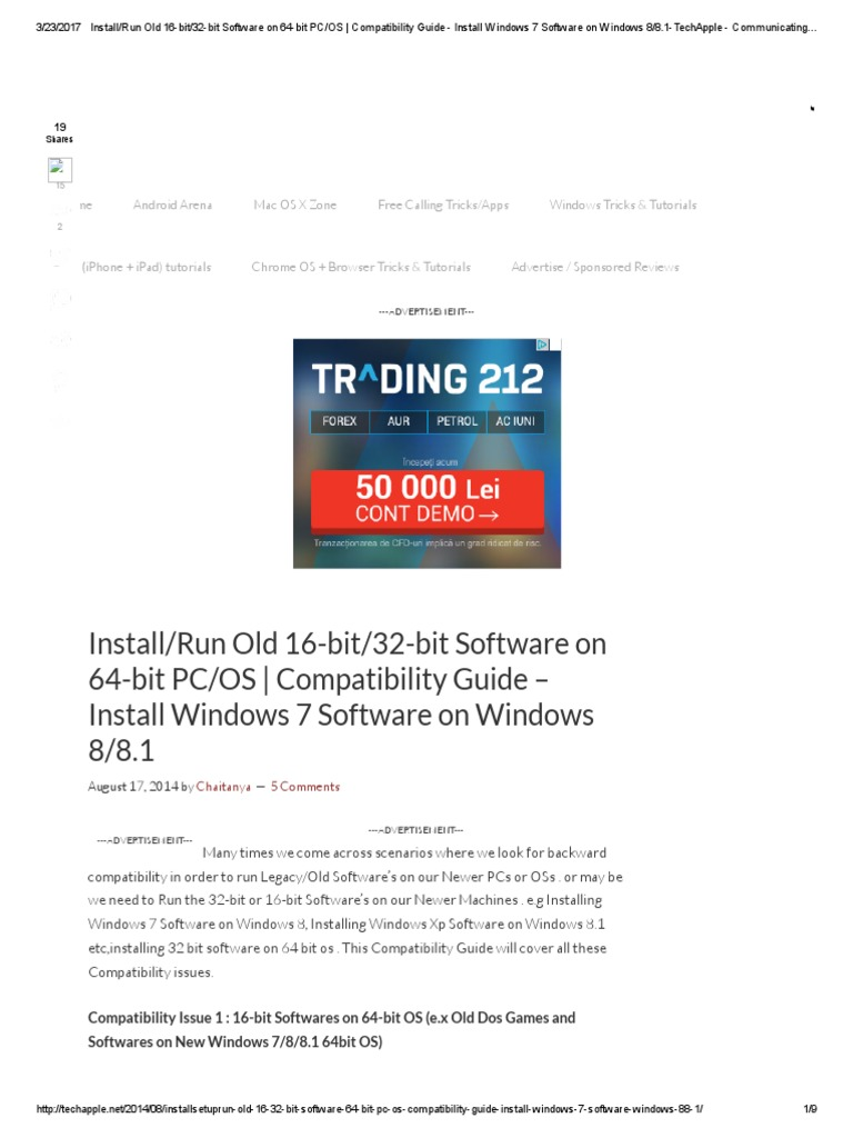 Install_Run Old 16-Bit_32-Bit Software on 64-Bit PC_OS _