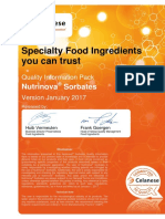 Sorbates Food and Pharma Quality Information Pack