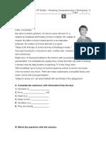 Worksheet 1 - Diagnostic Test