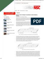 SCI AD 317 - Use of integral crossheads in skew highway bridges