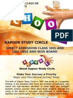NIOS And CBSE Online Admission Status 2017-18 for Class 10th and 12th Delhi | Kapoor Study Circle