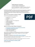 PGDM Admission in Bangalore