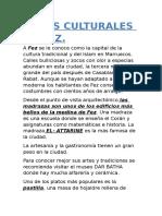 Datos Culturales de Fez