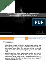 Analisa Transportir BBM Utk PJB