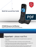 Bt6600 User Guide