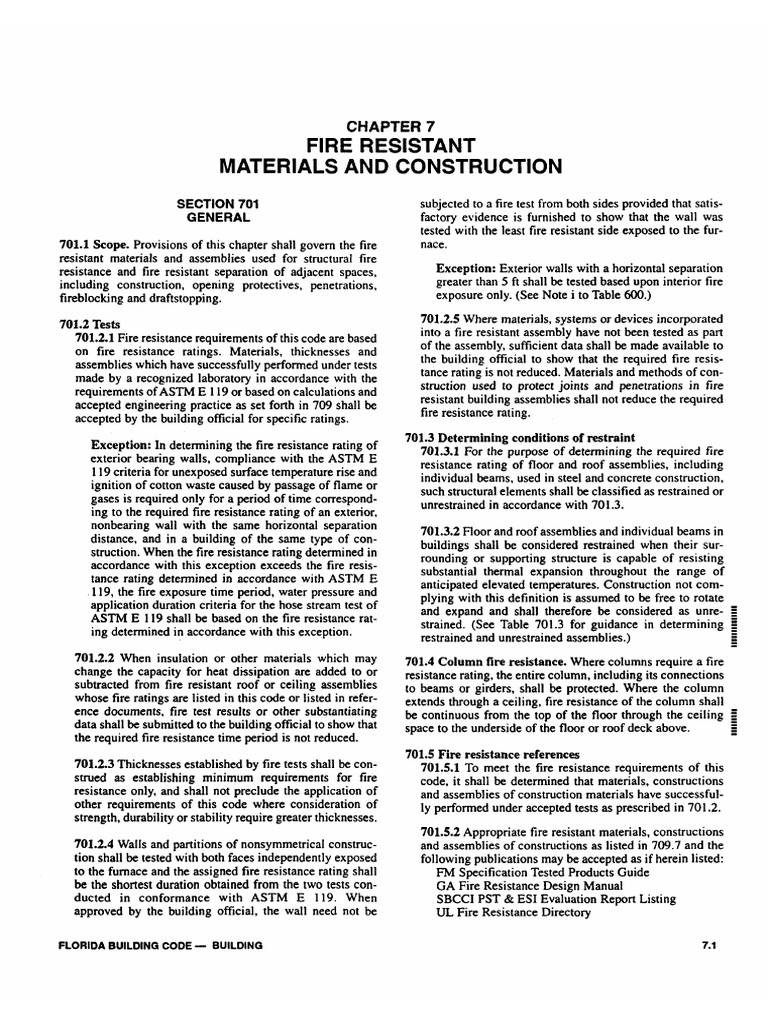 Fire Resistance Rating : Fire resistant materials and construction pdf framing