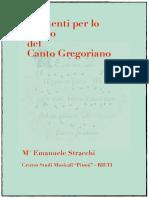 Elementi Per Lo Studio Del Canto Gregoriano