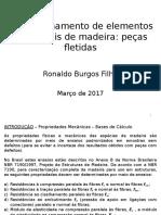 11 - Dimensionamento de Elementos Estruturais de Madeira - Peças Fletidas