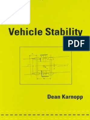 Vehicle Stability - Dean Karnopp pdf | Computer Aided Design