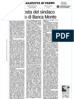 La proposta del Sindaco su Banca Monte