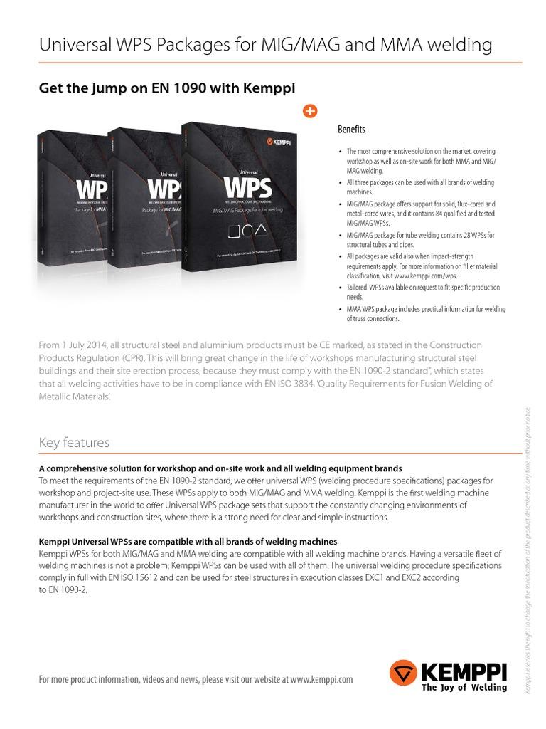 List of Universal Wps for MIG MAG Welding En | Welding ...