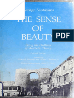 George Santayana - the Sense of Beauty Being