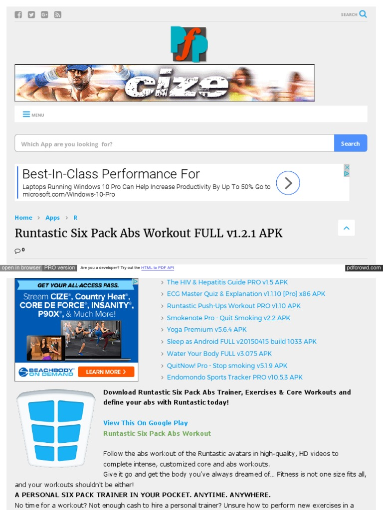 runtastic six pack full apk download