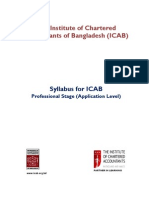 Syllabus of Application Level for ICAB