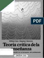 Kemmis y Carr. 1986. Teoria Critica de La Ensenanza.