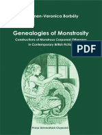 Genealogies of Monstrosity Constructions of Monstrous Corporeal Otherness in Contemporary British Fiction