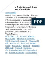 Generic and Trade Names of Drugs for Treatment of Tonsillitis.docx