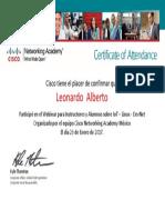 Certificate of Attendance for Alberto