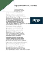 Poesia Engraçada Sobre o Casamento