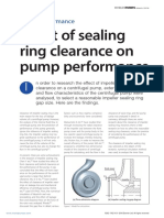 Eff Ect of Sealing Clearance on Pump Performance