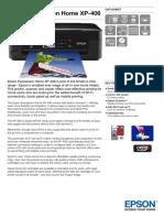 Epson Expression Home XP 406 Datasheet