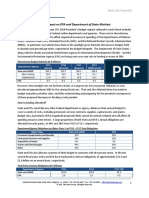 FY 2018 Budget - The Impact on EPA and Department of State Markets