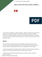 Diferencias Entre Laca Barniz Shellac y Poliuretano