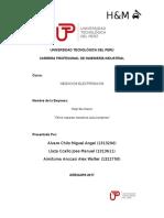Universidad Tecnológica Del Perú Negocios Electronicos