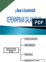 02 - PRINSIP DASAR & KARAKTERISTIK KEPEMIMPINAN ISLAM.ppt