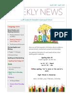 weekly newsletter- apr 3 - apr  7