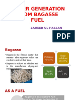 Power Generation by Bagasse Fuel
