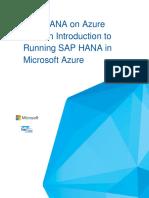 SAP HANA on Azure 101 - May2016 - Final