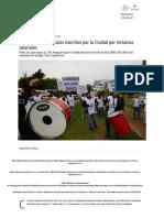 Empleados Vitivinícolas Marchan Por La Ciudad Por Reclamos Salariales - Los Andes Diario