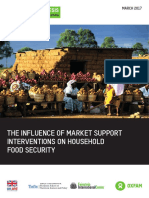 The Influence of Market Support Interventions on Household Food Security